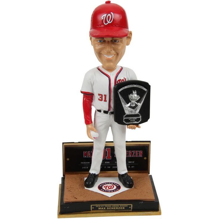 Max Scherzer Washington Nationals 2016 MLB National League Cy Young Award Bobblehead