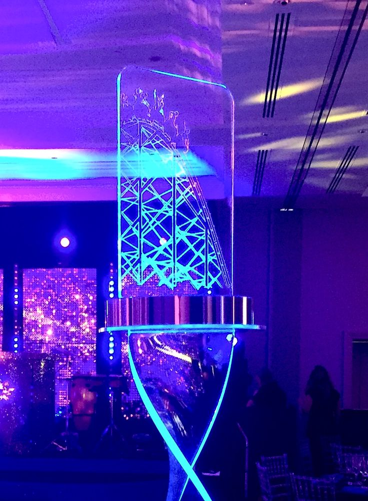 Awesome rollercoaster themed centrepieces
