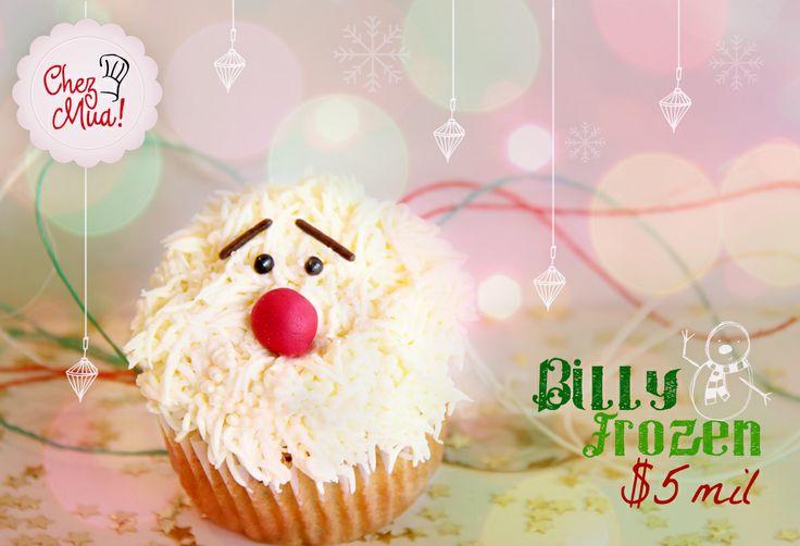 Reni el Reno II trajo de sus vacaciones a su gran nuevo mejor amigo Billy frozen, que nunca había conocido esta tierra llena de calor y mucha diversión. Si quieres Billy te acompañe haz click aquí: https://www.facebook.com/chezmua/app_137541772984354  #cupcake #navidad #calico