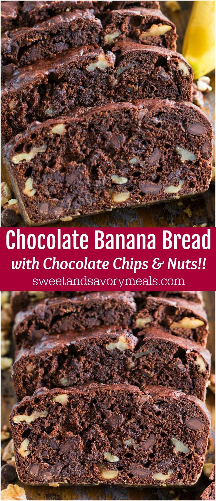 Chocolate Banana Bread with Nuts