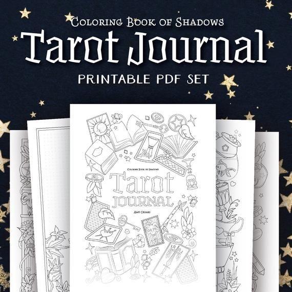 Coloring Book Of Shadows Tarot Journal Etsy Book Of Shadows Coloring Books Tarot
