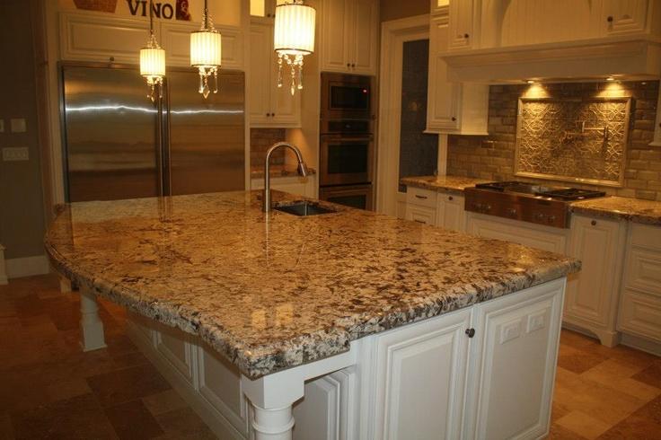 Granite Natural Stone Slab Ogee Edge Detail Kitchen