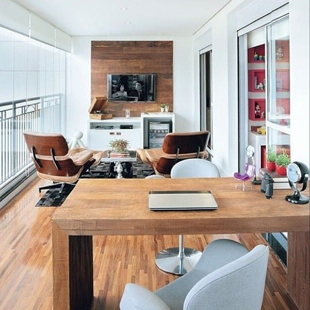 14 Best Varandas Home Office Images On Pinterest  Home Office Beauteous Home Office In Living Room Design 2018