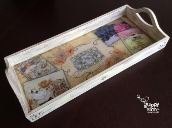 694 Best Images About Bandejas On Pinterest Wood Tray