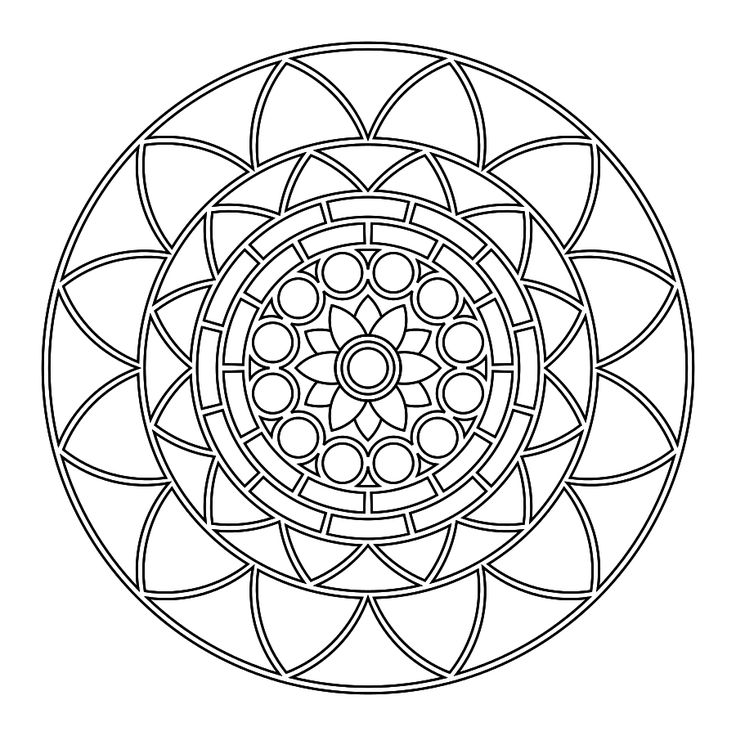 Mandalas to colour in :)