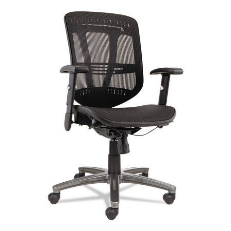 Alera Alera Eon Series Multifunction Wire Mech, Mid-Back Suspension Mesh Chair, Black