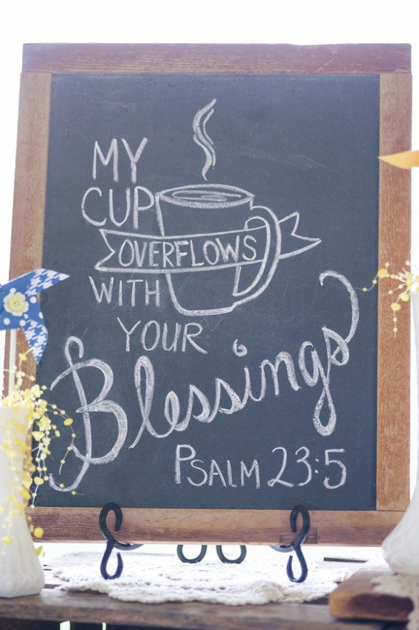 Great sign for coffee/drink table at wedding! :)