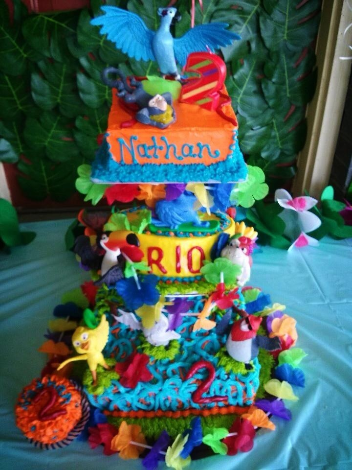 Rio Birthday Cake ~ Kay's Custom Cake Designs