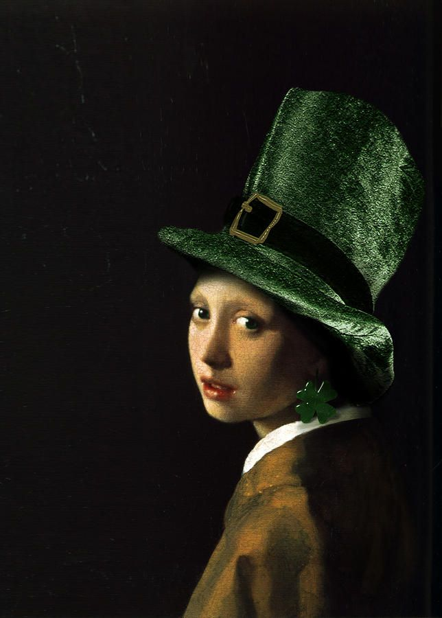 """""""Girl With A Shamrock Earring"""" Fine Art Print by Gravityx Designs"""