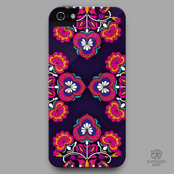 smartphone cover - design inspired by folk embroidery pattern from Čataj, Slovakia