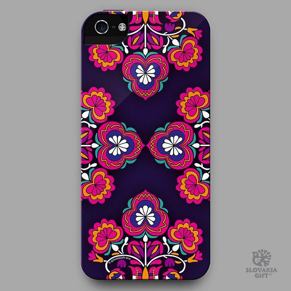 smartphone cover - design inspired by folk embroidery pattern from Čataj, Slovakia
