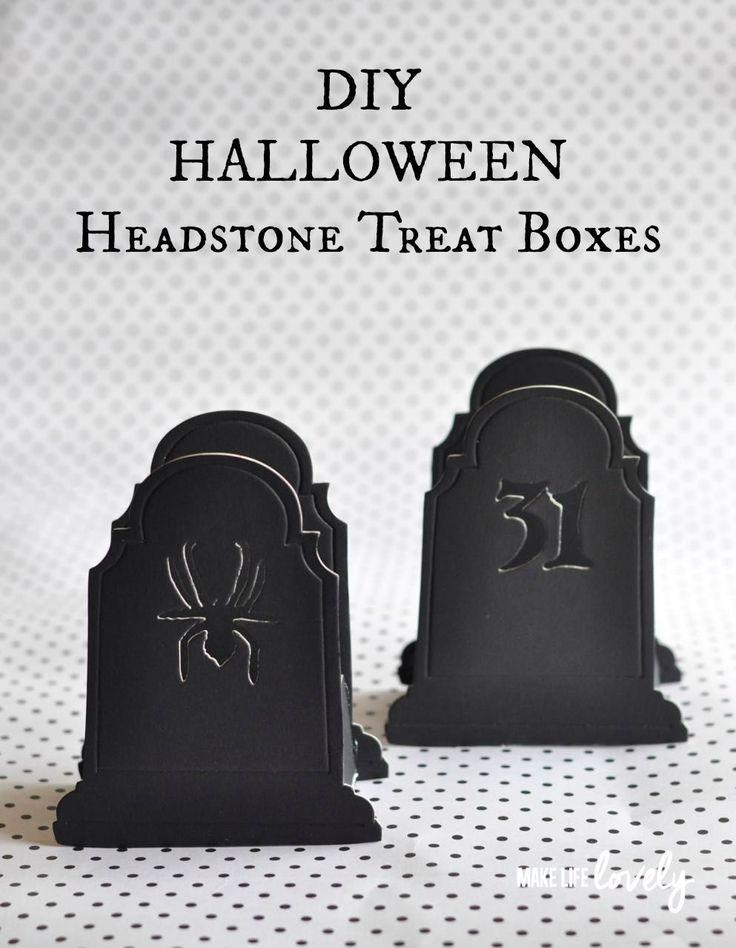 DIY Halloween Headstone Treat Box
