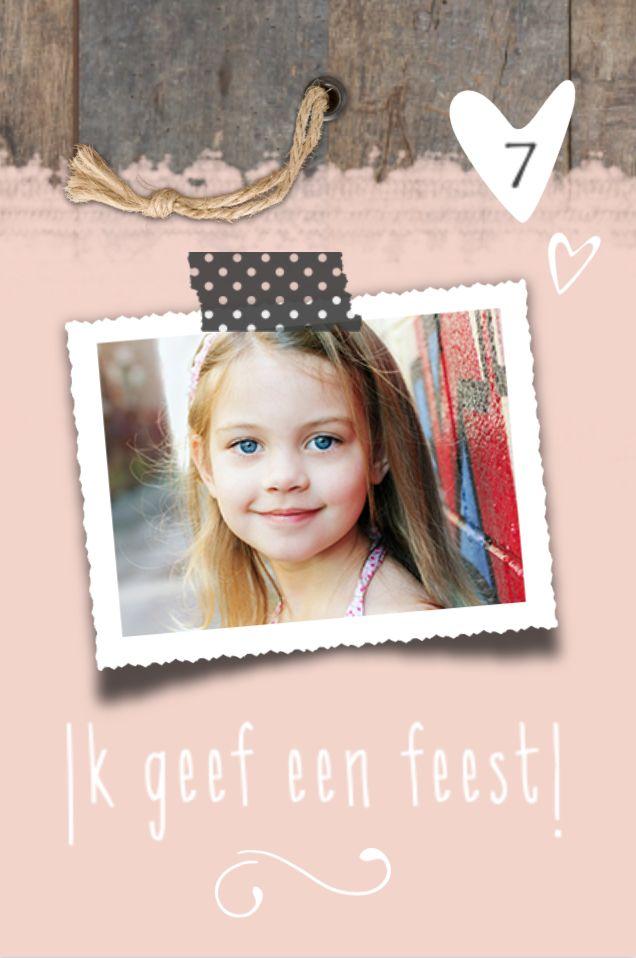 lovz.nl Hippe uitnodiging verjaardags feestje - meisje - uitnodigingen voor je kinderfeest - zelf maken