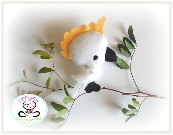 Baby Cockatoo PDF sewing pattern-DIY-Cockatoo toy