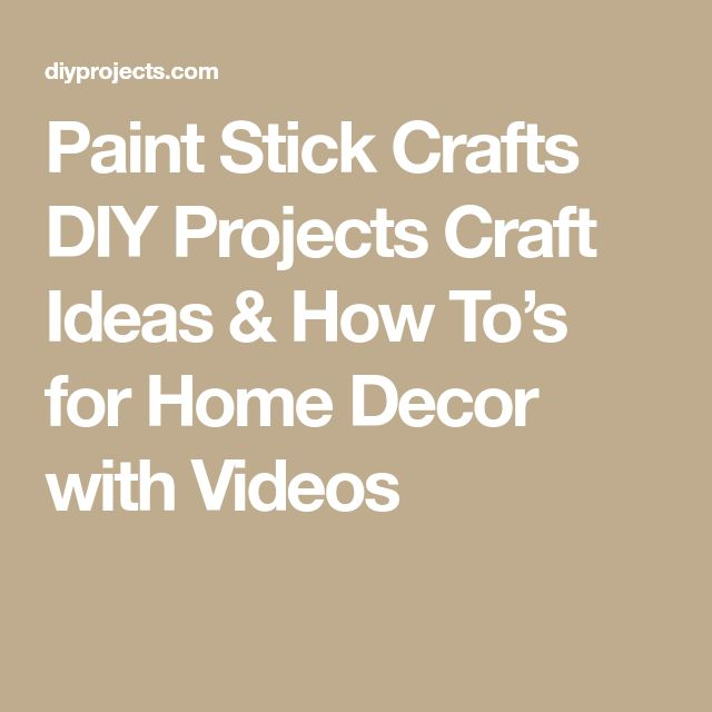 Paint Stick Crafts DIY Projects Craft Ideas & How To's for Home Decor with Videos