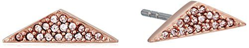 Fossil Triangle Rose Gold Stud Earrings * Visit the image link more details.