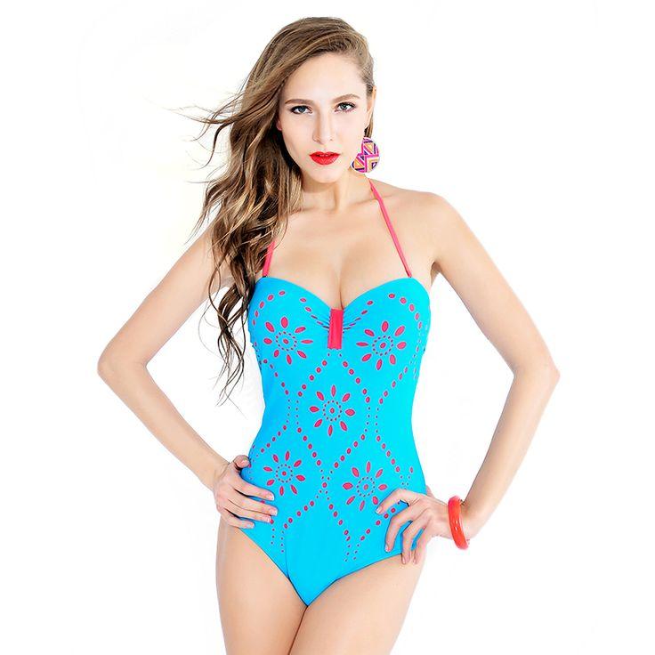 Block Push up High waist Bikini Swimwear Women Swimsuit Bathing Suit Sexy Halter Swimwear Swimsuit Bathing Suit Gradient