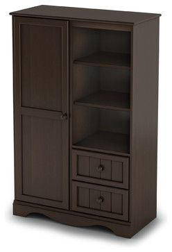 South Shore Savannah Armoire, Espresso transitional-armoires-and-wardrobes