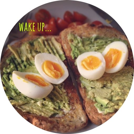 what // avocado on granary toast with soft boiled eggs & cherry tomatoes where // the comfort of your own saturday morning kitchen why // because who can afford to eat brunch out every weekend?!