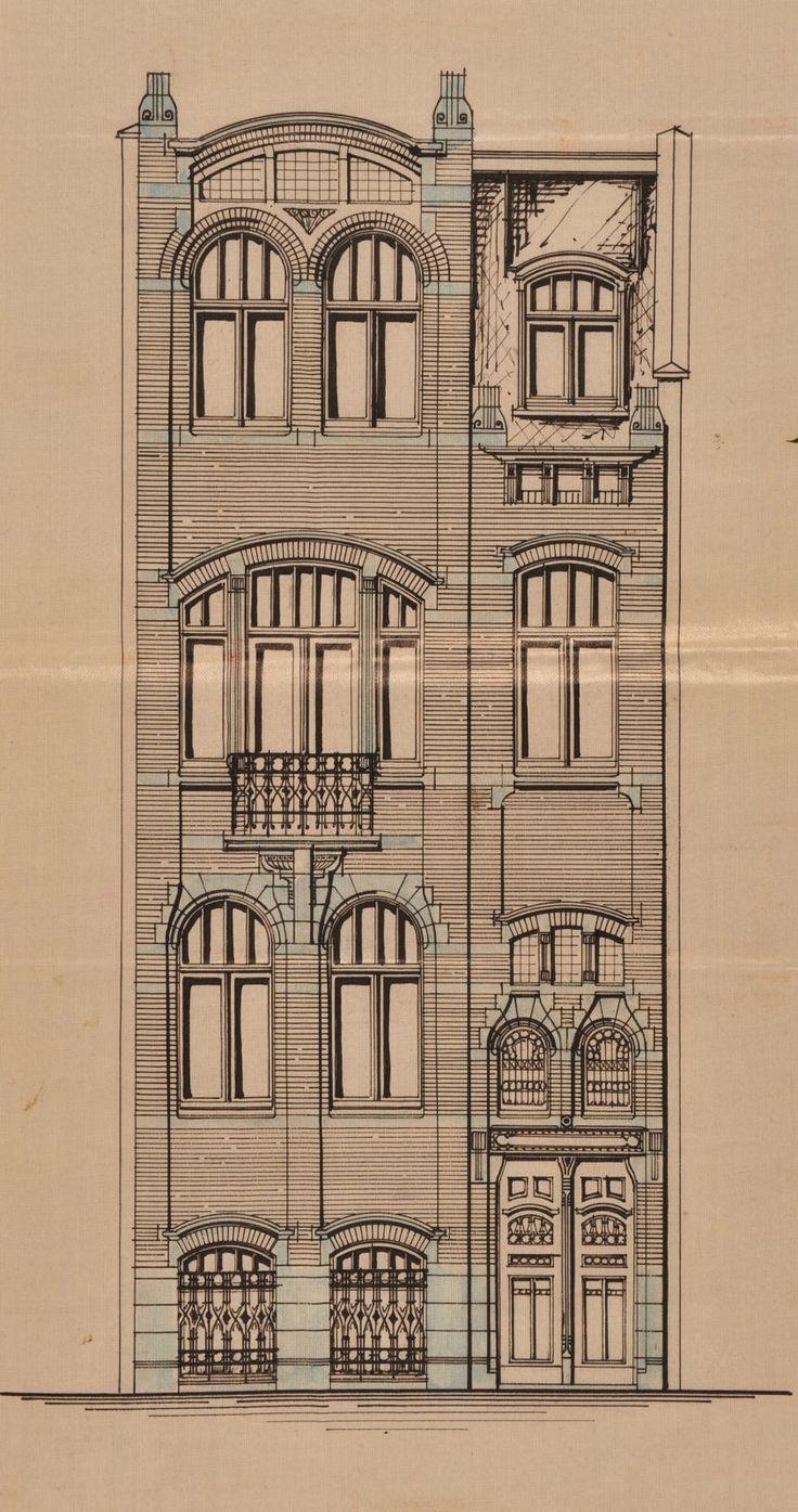 Schaerbeek - Rue Maurice des Ombiaux 24-26, 28-30, 32 - Avenue Mon Plaisir 71, 73, 75 - SCHAIK J. V.