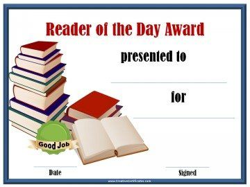 Reader of the day award