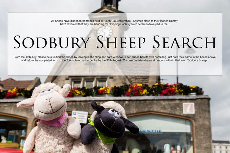 Chipping Sodbury have entered for #GBHighSt. Chipping Sodbury is a very attractive medieval Market Town which still has a twice-monthly Farmer's Market also Jazz and Blues Festival,  annual community Festival, a Classic Car run, Food Festival.  The 'Sodbury Sheep Search 2014' has been devised by the Chamber of Commerce as a fun FREE summer activity for families of all ages to help promote the historic market town of Chipping Sodbury as a great place to shop and eat.