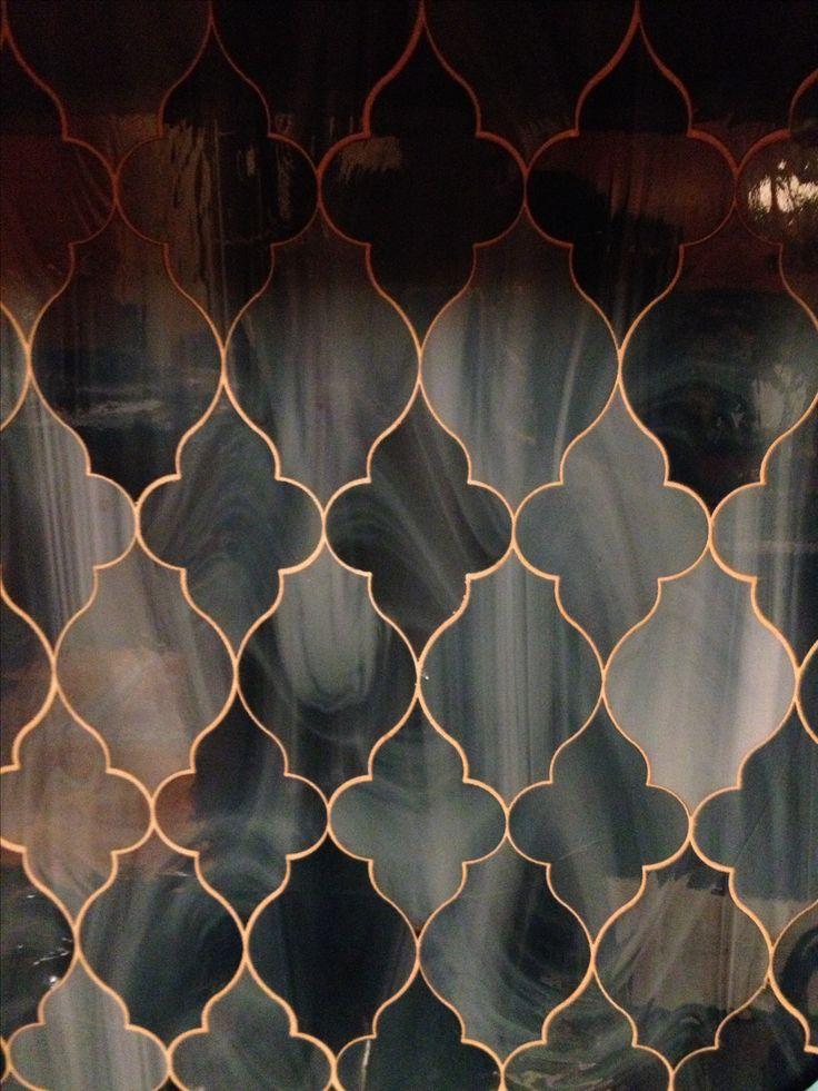 glass tile backsplash in kitchen added: glass tiles with seems like light coming…