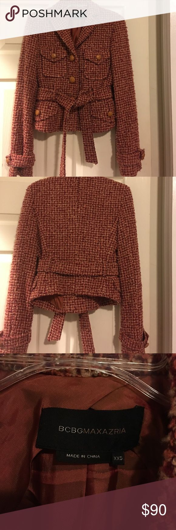 Beautiful like new BCBGMAXAZRIA jacket! Beautiful checkered style jacket. Worn maybe two times, in brand new condition. Perfect for fall and winter. Also goes great for work if you like something with a little sass! No markings, and includes 3 extra buttons that will come hidden in a pocket when someone purchases this gem. Comes with a slight crop style. BCBGMaxAzria Jackets & Coats Blazers