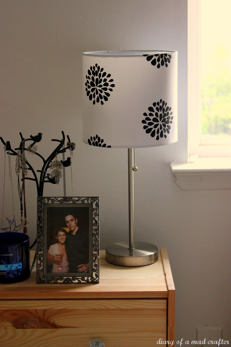 Lampshade make-over using freezer paper!