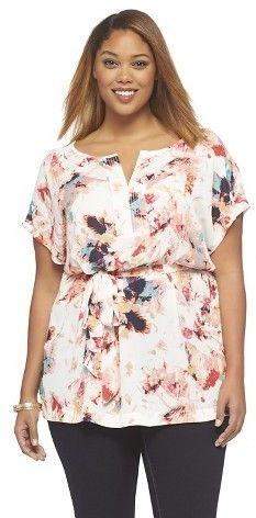 187c3e51791c7b Plus Size Top - Ava & Viv - Target   Plus Size Fashion   Women's plus size  shorts, Plus size shorts, Tops