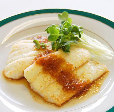 ヒラメのムニエル~香味ソース~ :: 魚介を美味しく食べるレシピ ... [調理時間]: 20分