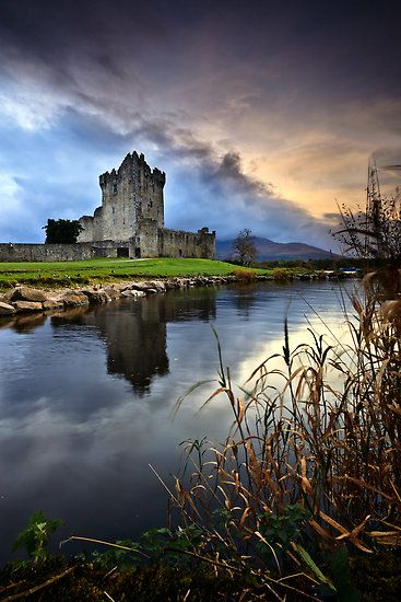 Evening closes in on Ross Castle in Killarney Co. Kerry, Ireland. We were there! :-)