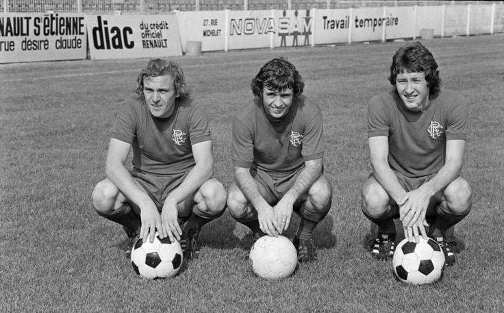 Colin Stein, Tommy Mac Lean et Derek Parlane (Glasgow Rangers)