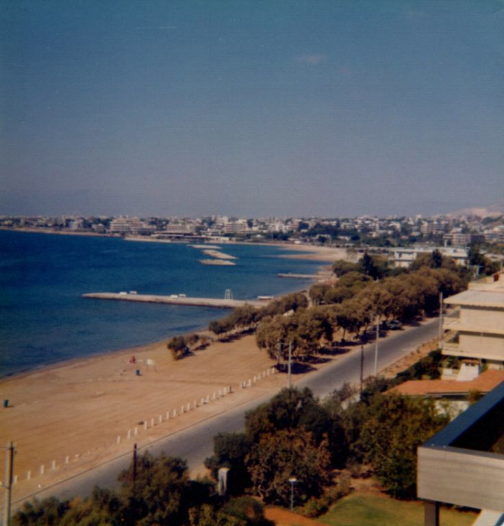 View from my room Apolloen Palace, Kavouri Greece on my first visit to Greece 1974