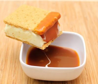Salted Caramel Cheesecake Ice Cream Sandwich