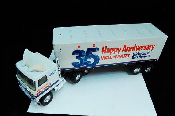 Walmart 35th Anniversary die-cast 18-wheel semi by BuyfromGroovy