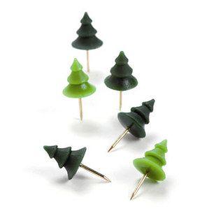the cutest push pins ever = tree push pins