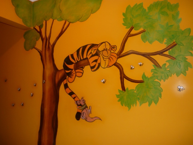 orange color - nursery babyroom