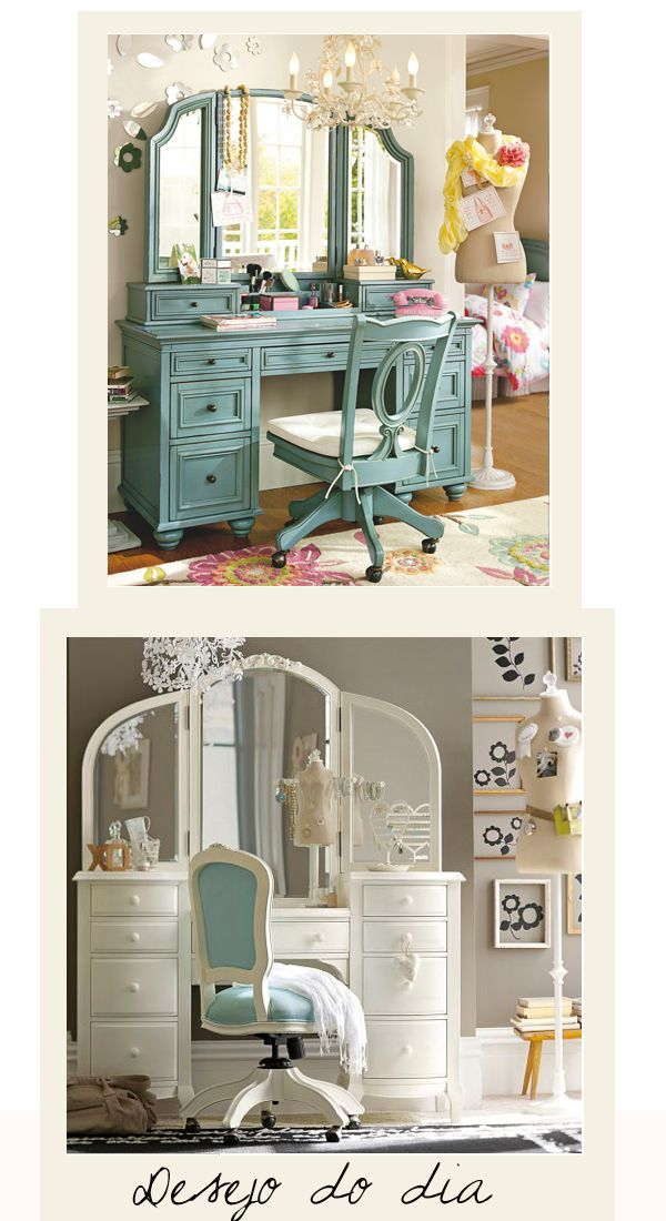 This looks like my Maw maw's vanity. Ohhh I wish I had it for my girls! I know it is probably sold in a garage sale by now. :(
