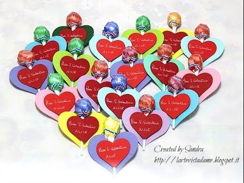 Cuori San Valentino per bambini Tutorial - idea regalo chupa chups - Lartevistadame