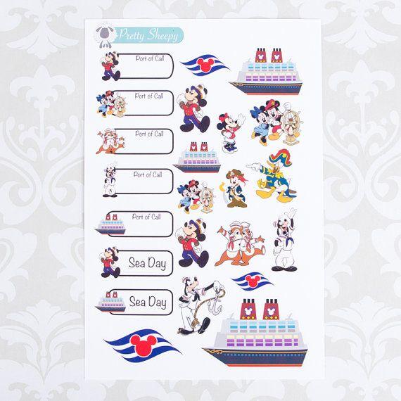 C122 // Disney Cruise Stickers Disney Planner by ...