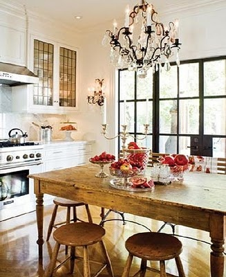 Rustic Table + Chandelier For My Future Dining Room.near My Future Bay  Window Of Course :)