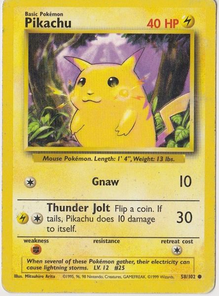 Pikachu Pokemon Card on Listia