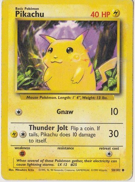 Pikachu Pokemon Card on Listia