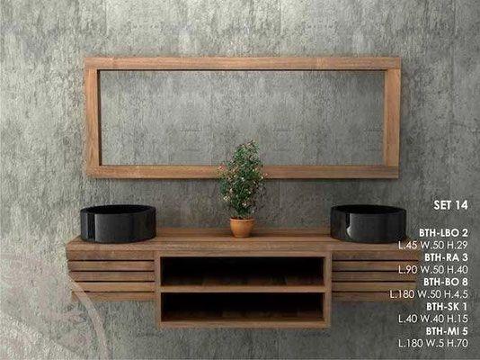 30 best bagni in teak giallosun su misura images on pinterest columns teak and design - Mobili bagno teak ...