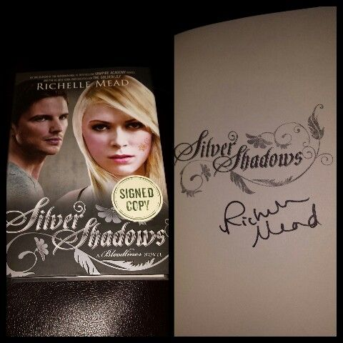 247 best the worlds of richelle mead images on pinterest vampire signed silver shadows by richelle fandeluxe Gallery