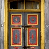 Doors, Chiloe Island, Chile love the colors.