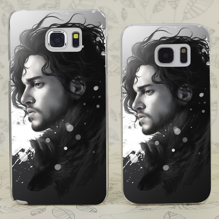 C0064 Jon Snow Game Of Throne Transparent Hard PC Case Cover For Samsung Galaxy S 3 4 5 6 7 Mini Edge Plus Note 3 4 5 7 - Direwolf Shop Direwolf Shop