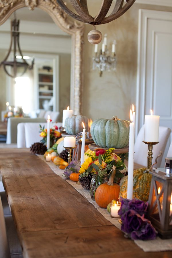 Holiday table decorations you can make thanksgiving