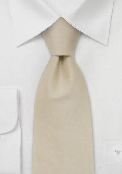 Solid color ties Handmade silk tie in solid cream color